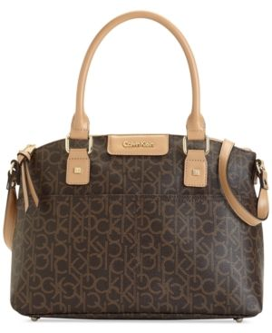 Calvin Klein Hudson Dome Satchel - Brown