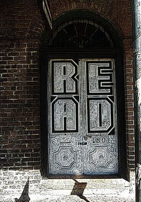 New Orleans French Door with Graffiti
