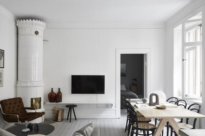 Piso pequeño y elegante Interiors