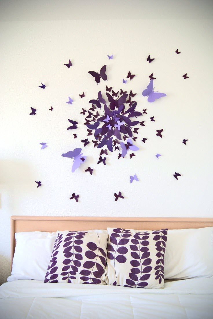 Décoration murale papillon  Idée déco mur chambre