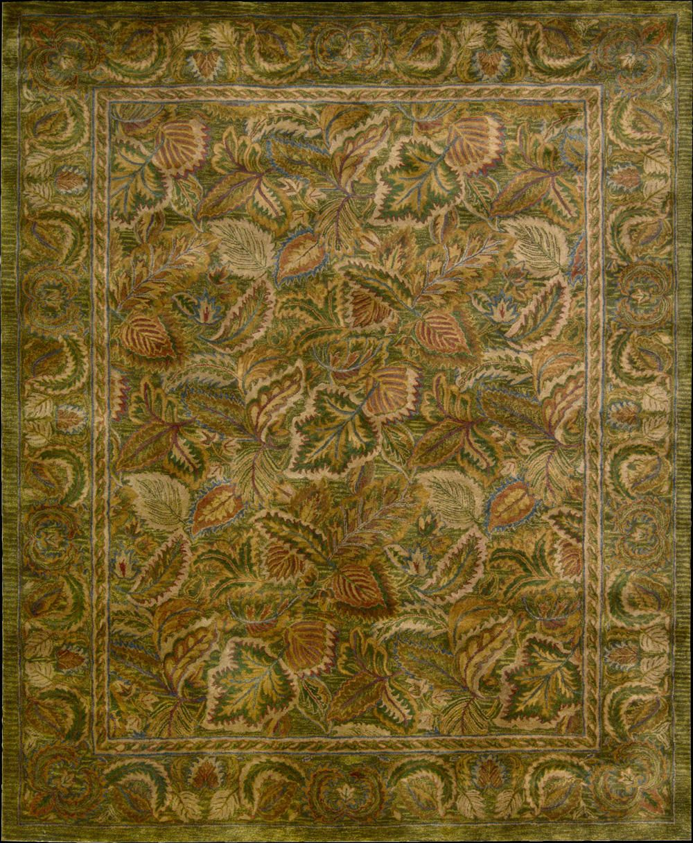In Tempting Tones Of Taupe An Old World Medallion Leaf Vine And Blossom Design Imparts An Air Of Glorious Grande Quality Area Rugs Green Area Rugs Area Rugs