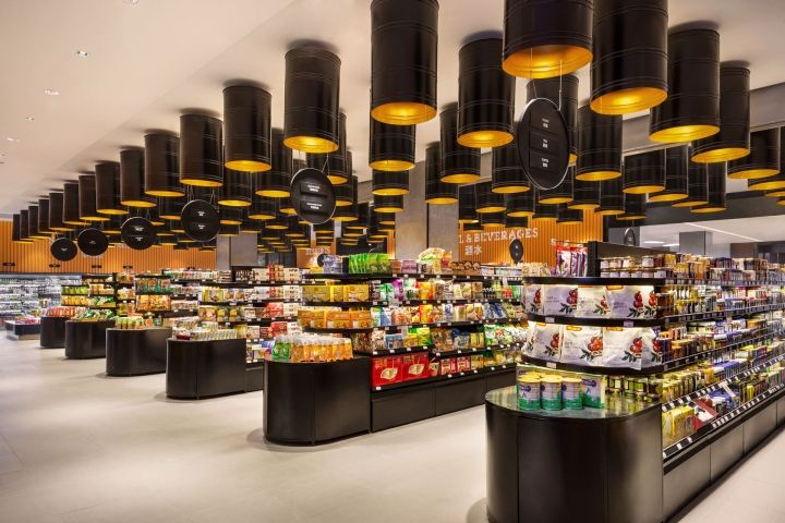 Home park food store by triad china harbin china retail design blog lighting interior for Home design store merrick park