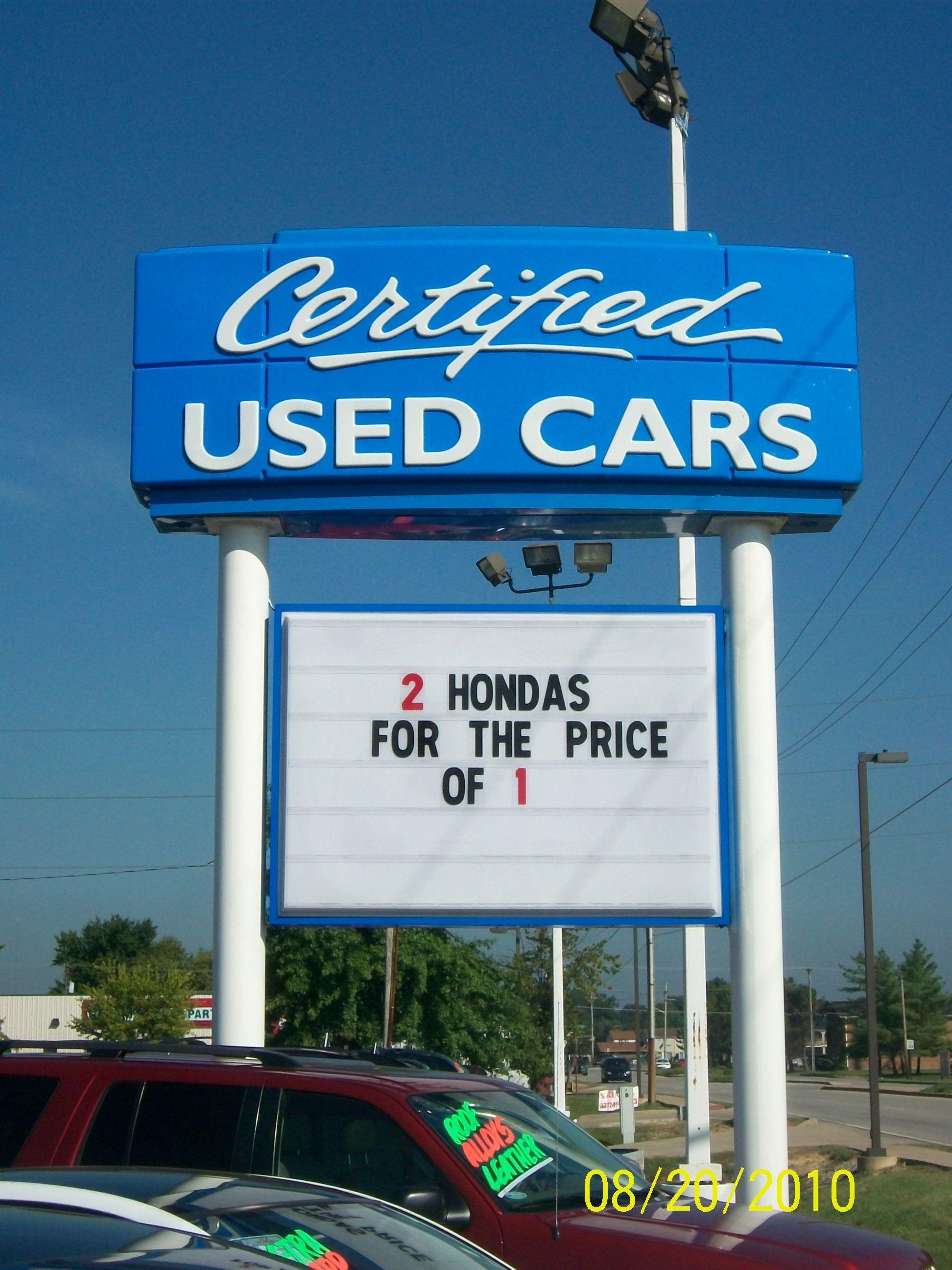 Neil Huffman Honda Located In Clarksville INNeilHuffmanHonda Signs Dealership Pylon Usedcarsign
