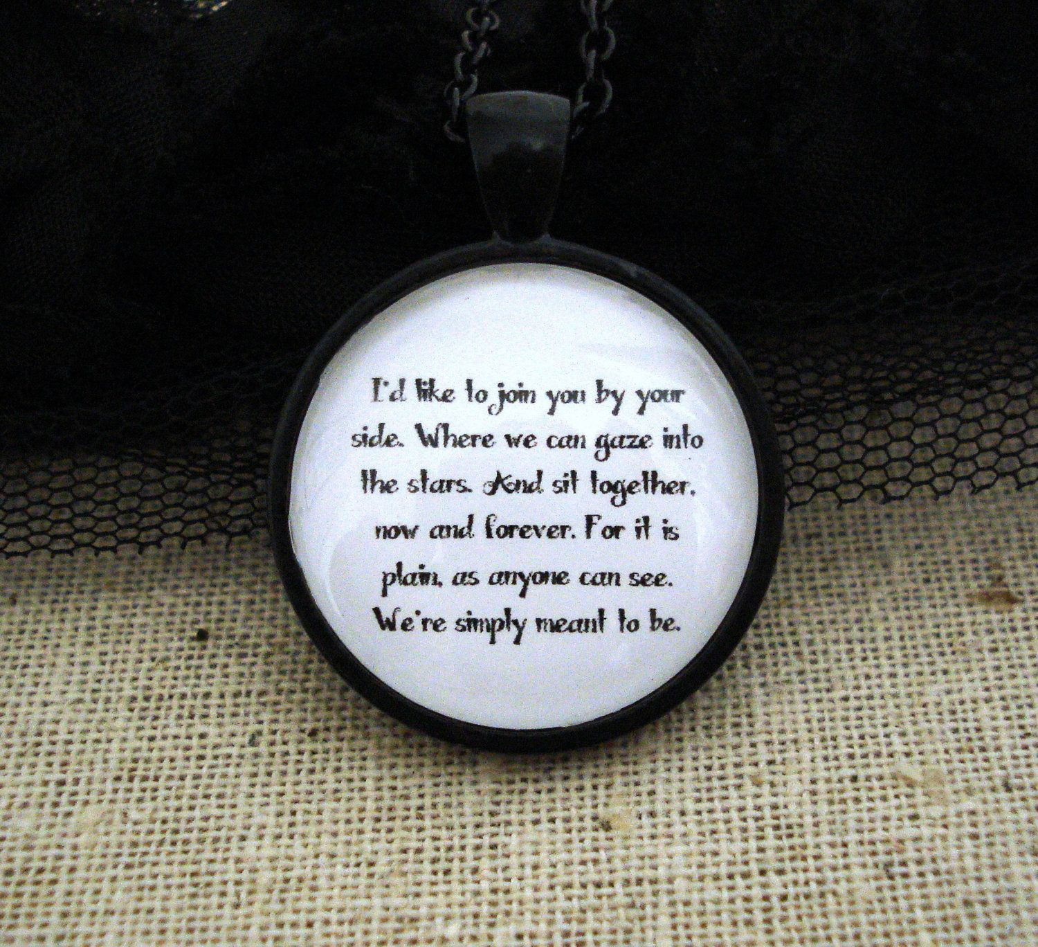 Nightmare Before Christmas Jack Skellington Quote Necklace | Quote ...