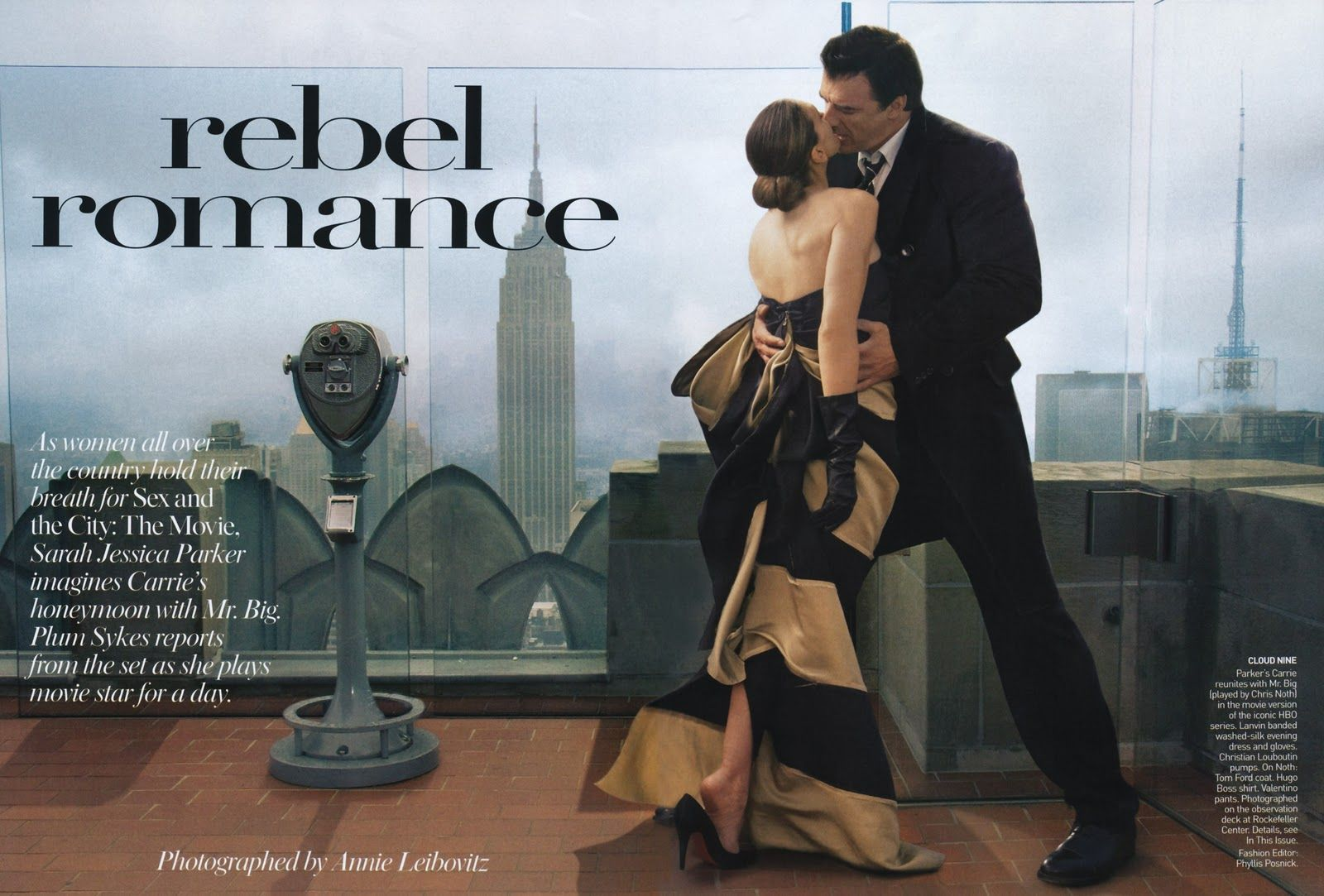Sarah Jessica Parker and Chris North: engagement photo inspiration (Vogue 2008)