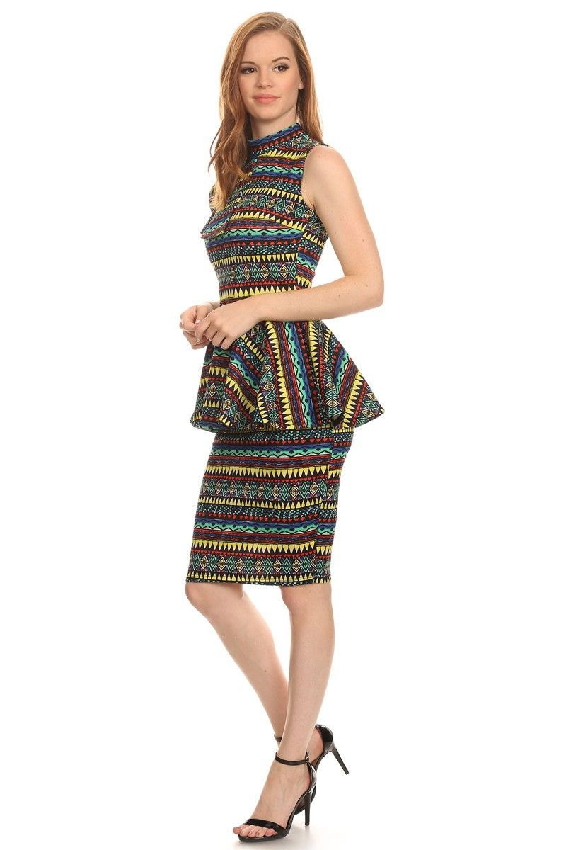 Amazonia side rock peplum midi dress products pinterest peplum