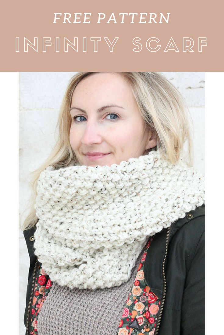 10 Easy Easter Knits | Infinity scarf knitting pattern ...