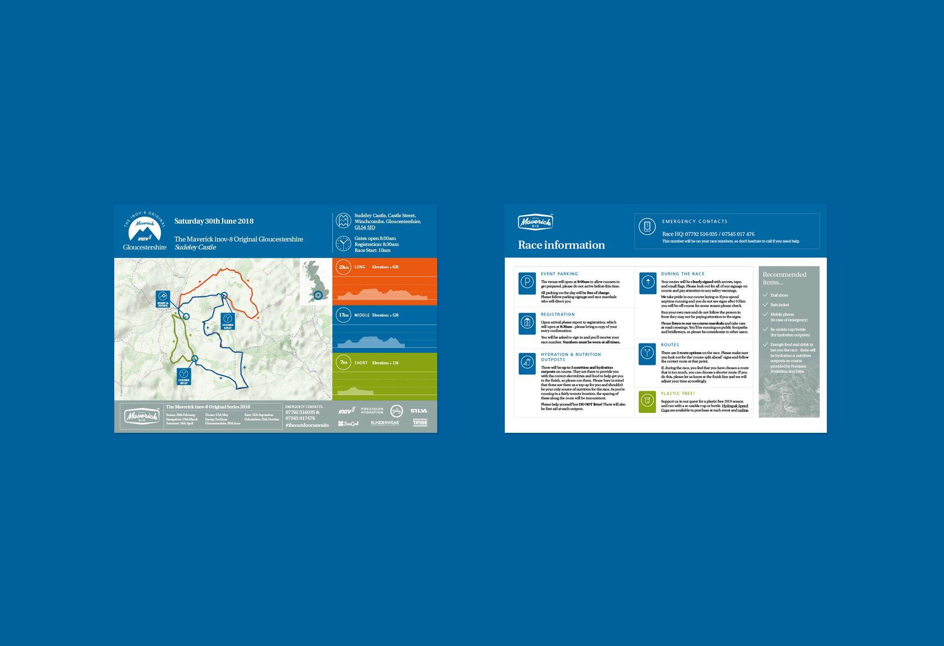Maverick Race Information Sheet Design Racing Mavericks