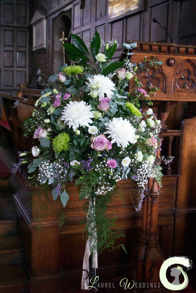 Church pedestal arrangement wedding ideas pinterest