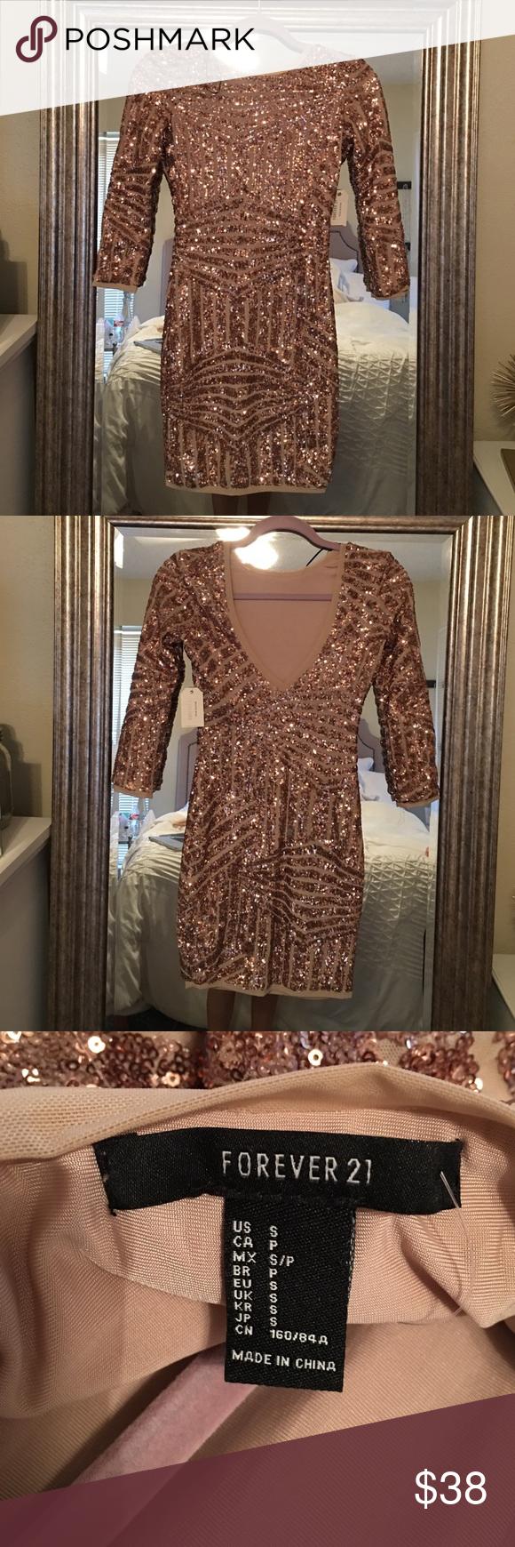 Selling this Rose Gold Sequin Dress on Poshmark! My username is: meganflowers_. #shopmycloset #poshmark #fashion #shopping #style #forsale #Forever 21 #Dresses & Skirts