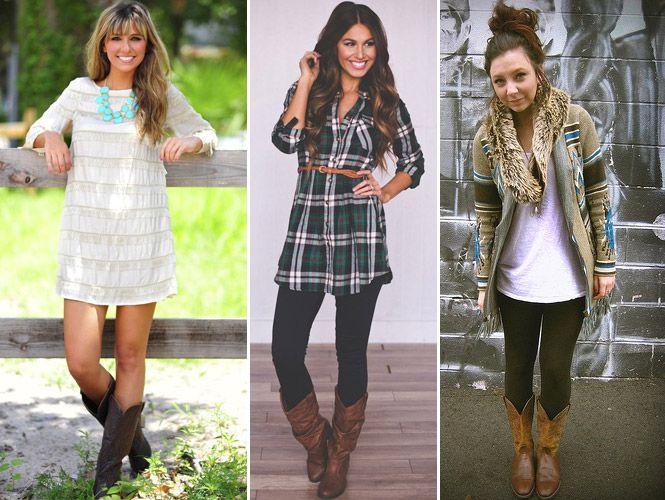 Botas Texanas Femininas Looks e como usar | Botas texanas