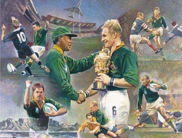 Framed South Africa S 1st World Cup Win Madiba Magic Art By Wouter Du Preez Nelson Mandela Art Magic Art Art