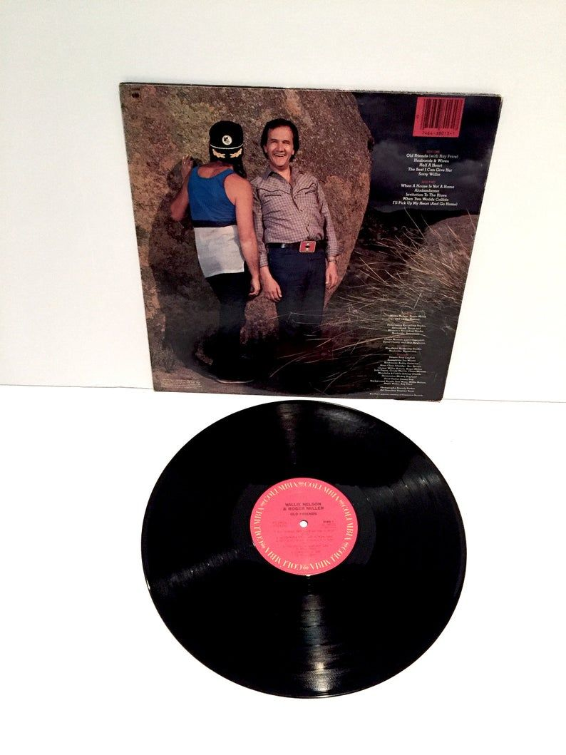 Willie Nelson And Roger Miller Old Friends Vinyl Record Etsy In 2020 Willie Nelson Vinyl Records Vintage Vinyl Records