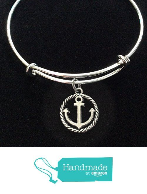 Anchor Charm Nautical Expandable Silver Charm Bracelet from Jules Obsession http://www.amazon.com/dp/B016AJ5YY6/ref=hnd_sw_r_pi_dp_upSuxb1CQM2Y1 #handmadeatamazon