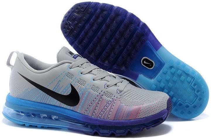 8ee4c48a67ae9 Nike Flyknit Air Max Grey Blue Purple Black