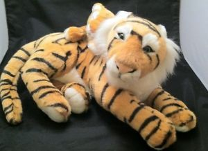 national geographic plush tiger baby on back stuffed animal realistic