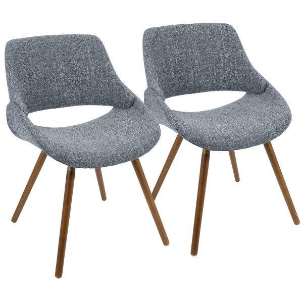 Best Fabrico Mid Century Modern Dining Accent Chair In Walnut 400 x 300