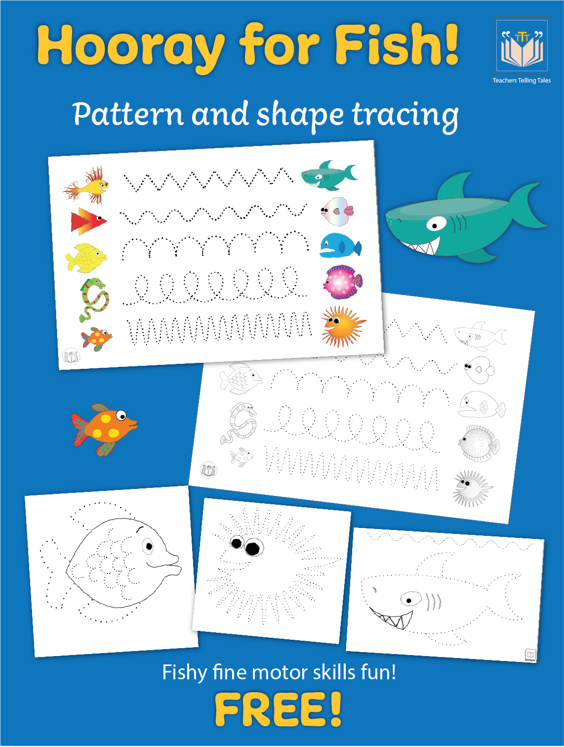 Hooray for Fish Shape & Pattern Tracing in 2020 | Fish ...