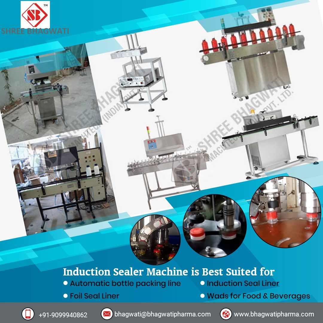 Automatic Induction Sealing Machine Shree Bhagwati Machtech