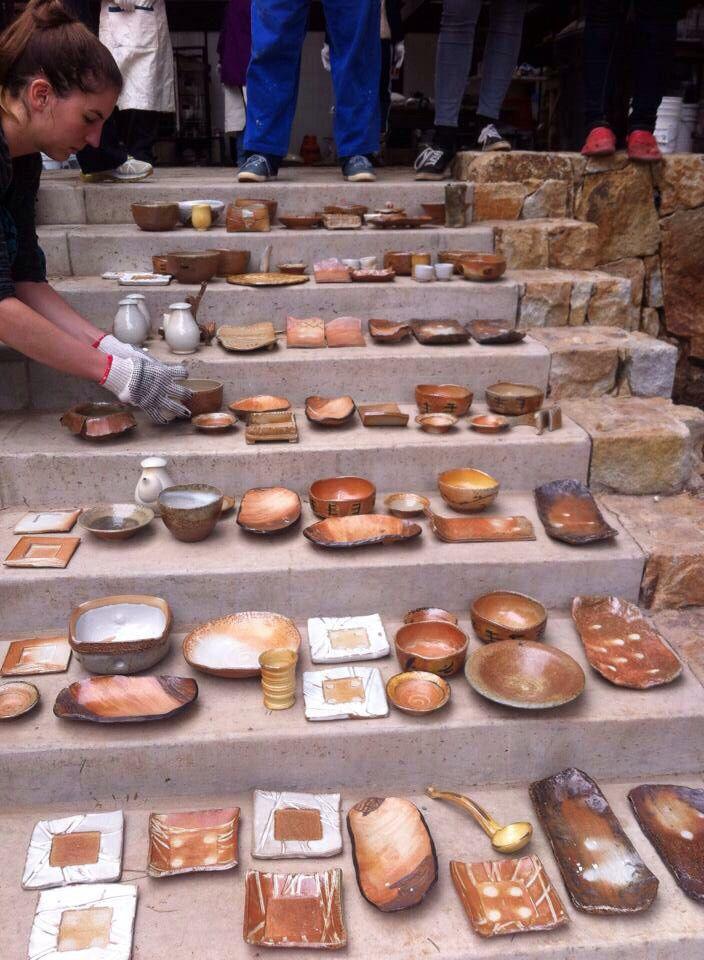 Produção das ceramistas brasileiras no evento
