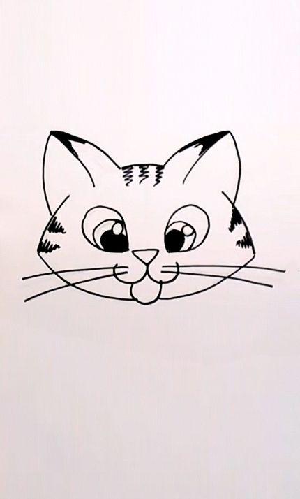 Drawing a Cartoon Tabby Cat Face | Art Lessons | Pinterest ... Tabby Cat Cartoon Drawing