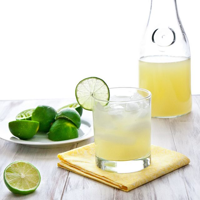 Homemdae Classic Lime Margarita by foodiebride.  SO EASY!  I'll never buy the pre-made mix again!