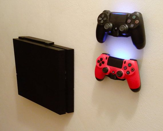 Wall Mount Brackets For Ps4 Console And Controllerswith Ps4 Console Wall Mount Bracket Console