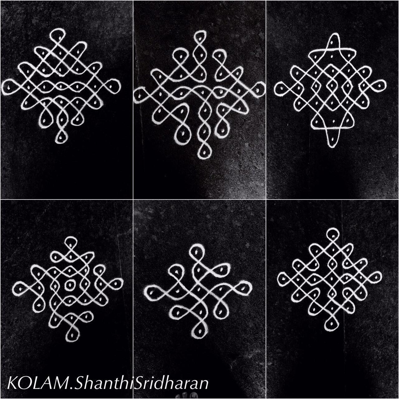 Pin by Shanthi Sridharan.KOLAM on Black and white Kolam