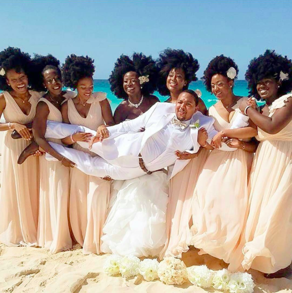Wedding Hairstyles In Jamaica: Shine Queens! This All-Natural Hair Bridal Party Is Pure