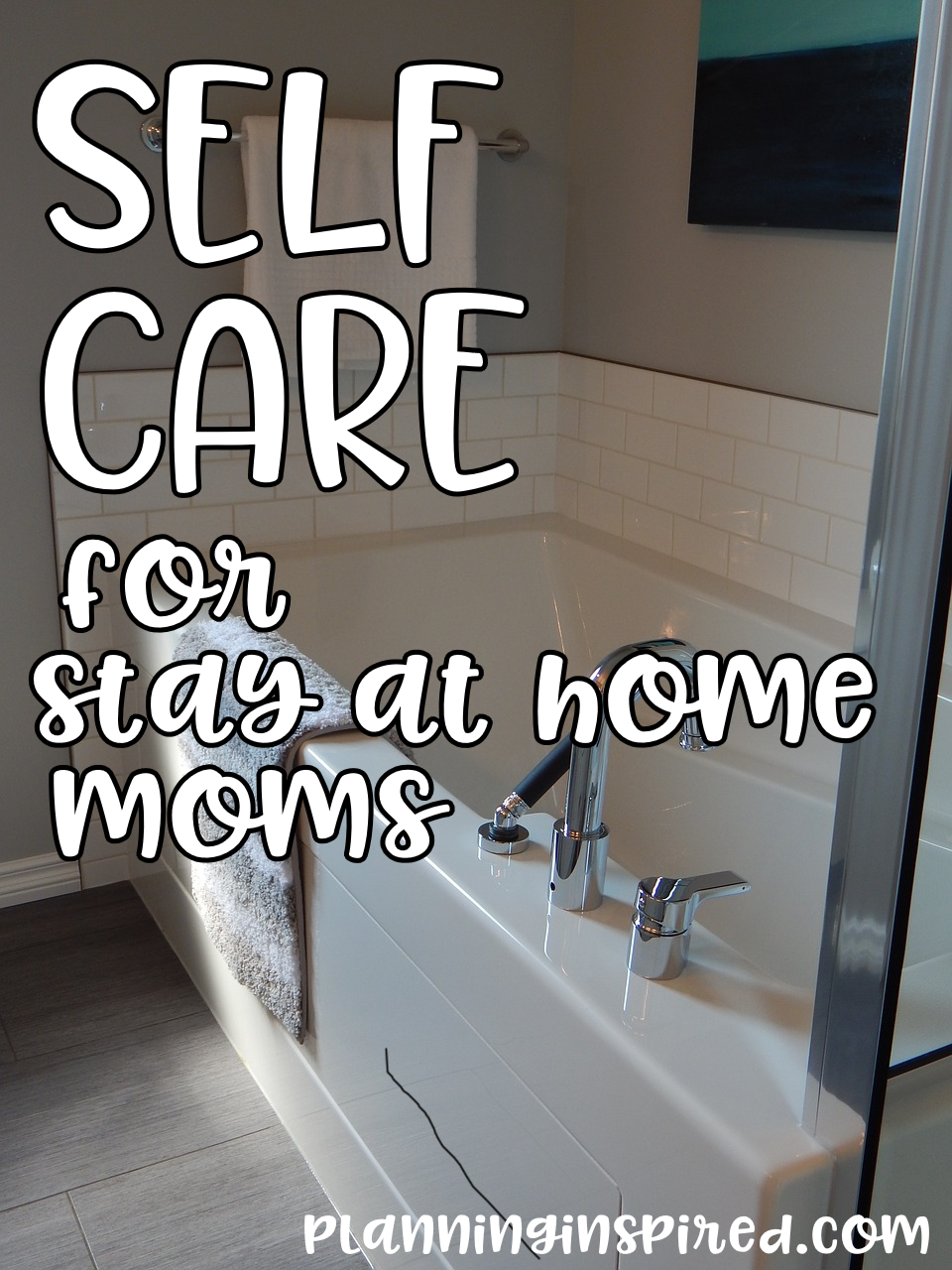 Where are my tired mamas at? I'm sharing my tips for self care for stay-at-home moms. Are you taking care of you?