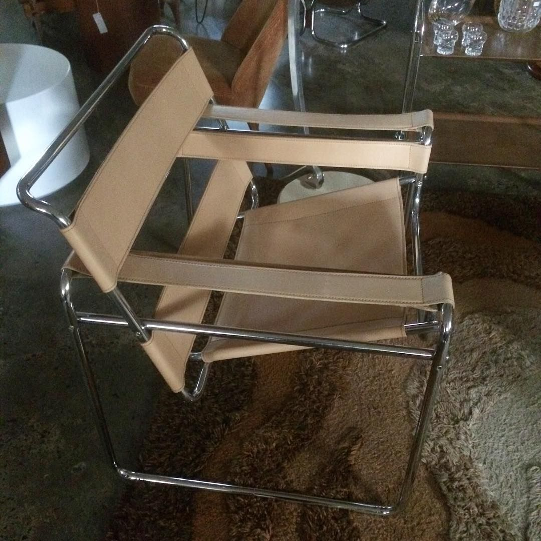 We Have A Pair Of Vintage Reproduction Wassily Chairs (also Known As The  Model B3