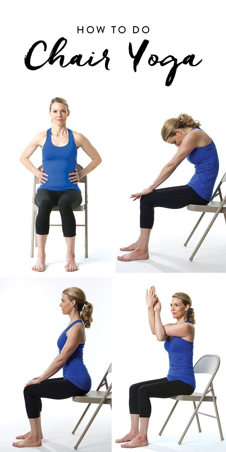 De Stress Instantly With This Easy Chair Yoga Flow Chair Yoga Yoga For Seniors Easy Yoga Workouts
