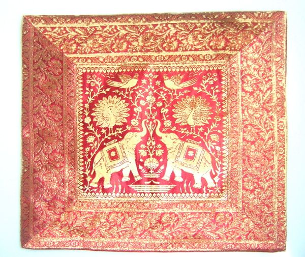 Cojin de India elefantes, color granate Decoración Árabe