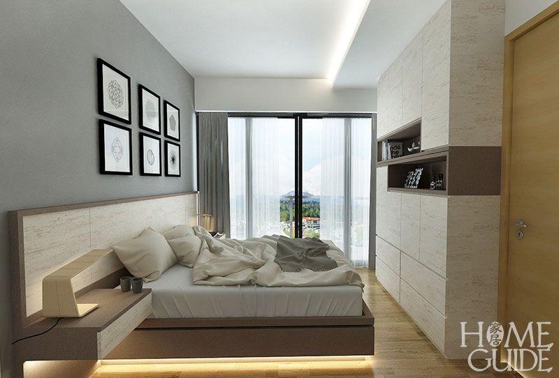 Bedroom Interior Design @ Sea Horizon EC In Singapore.