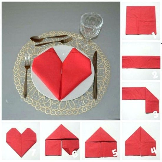 Servietten falten Weihnachten - 5 einfache Anleitungen und noch eine Menge Inspiration #serviettenfalten