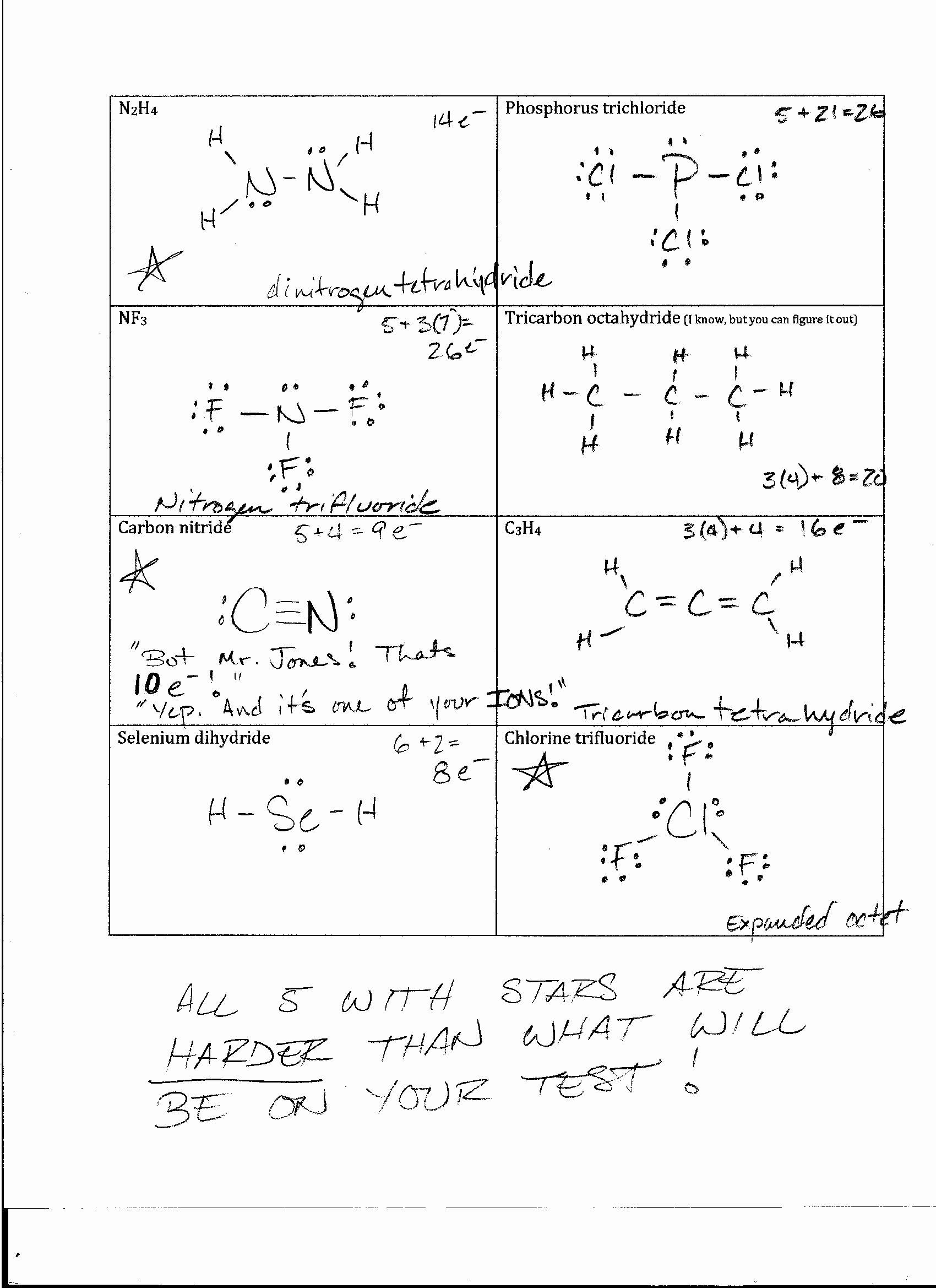 Lewis Structure Worksheet With Answers Best Of Foothill