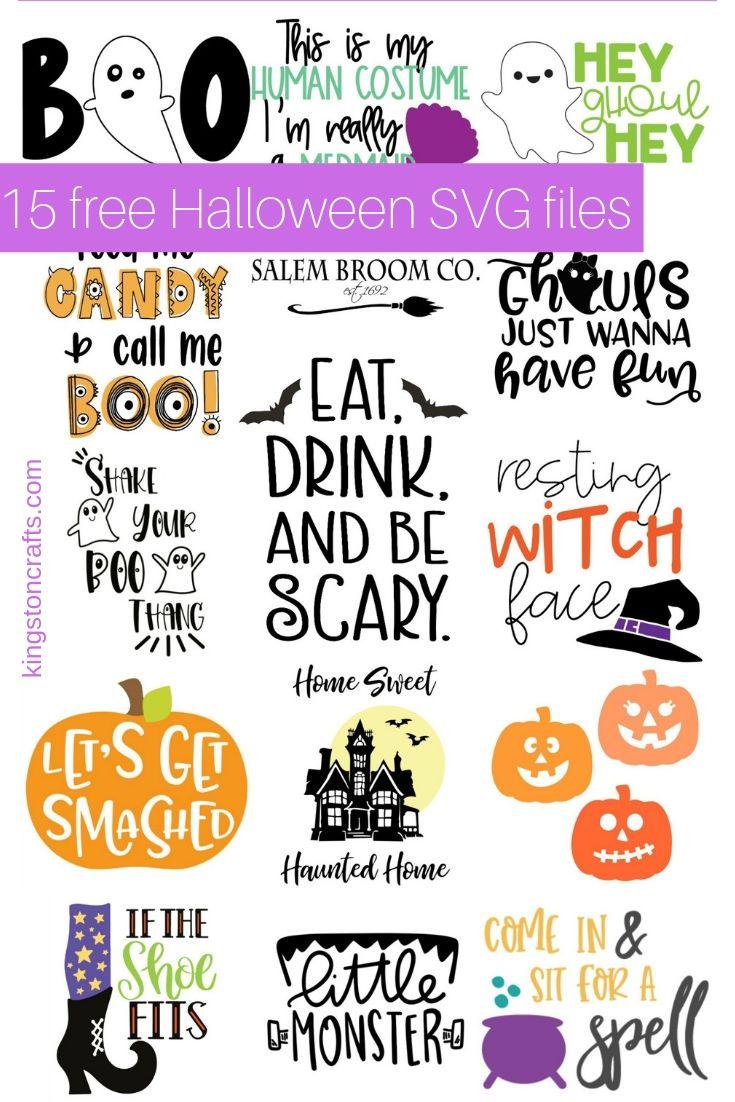 15 Free Halloween SVG Files Halloween, Svg file, Cute