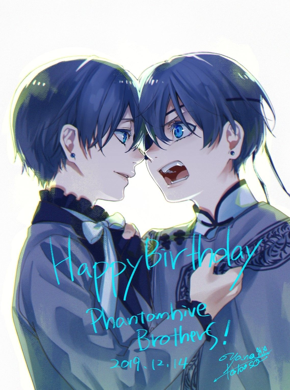 Kuroshitsuji Happy Birthday Phantomhive Brothers Ciel