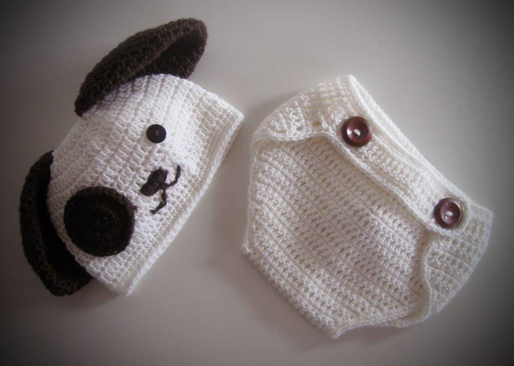 Pretty Crochet Dog for Baby Boy Perrito a Crochet para Bebé Varón-