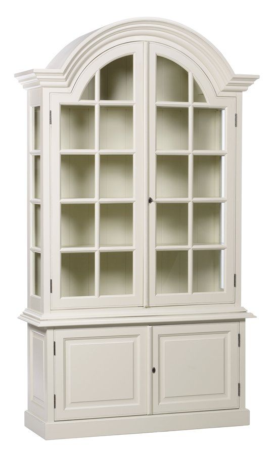 Elegant Bordeaux French Display Cabinet
