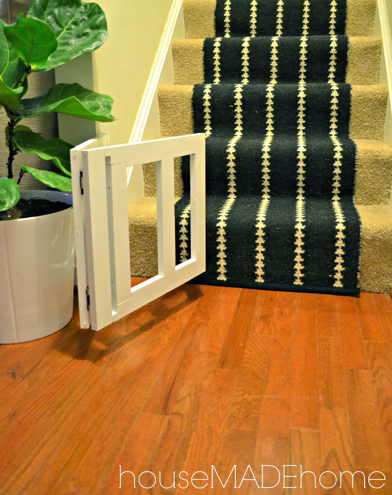 House Made Home Diy Dog Gate From A Bench A Tutorial