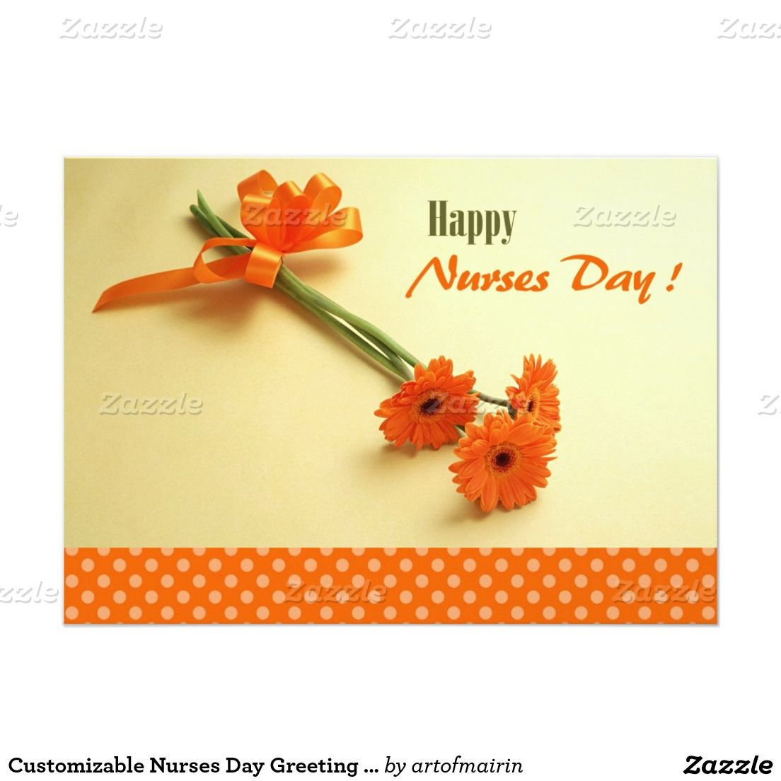 Customizable nurses day greeting cards healthcare pinterest colorful daisies nurses day flat greeting cards for nurses with customizable greeting matching cards postage stamps and other products available in the m4hsunfo