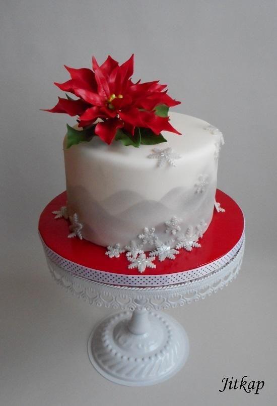 Christmas cake by Jitkap