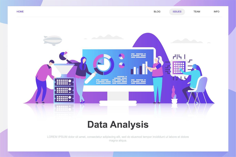Data Analysis Flat Concept By Alexdndz On Flat Design