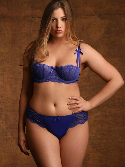 Lauren Shaw. Plus Size Isabella Shelf Bra, Blue | 19) Lauren Shaw ...