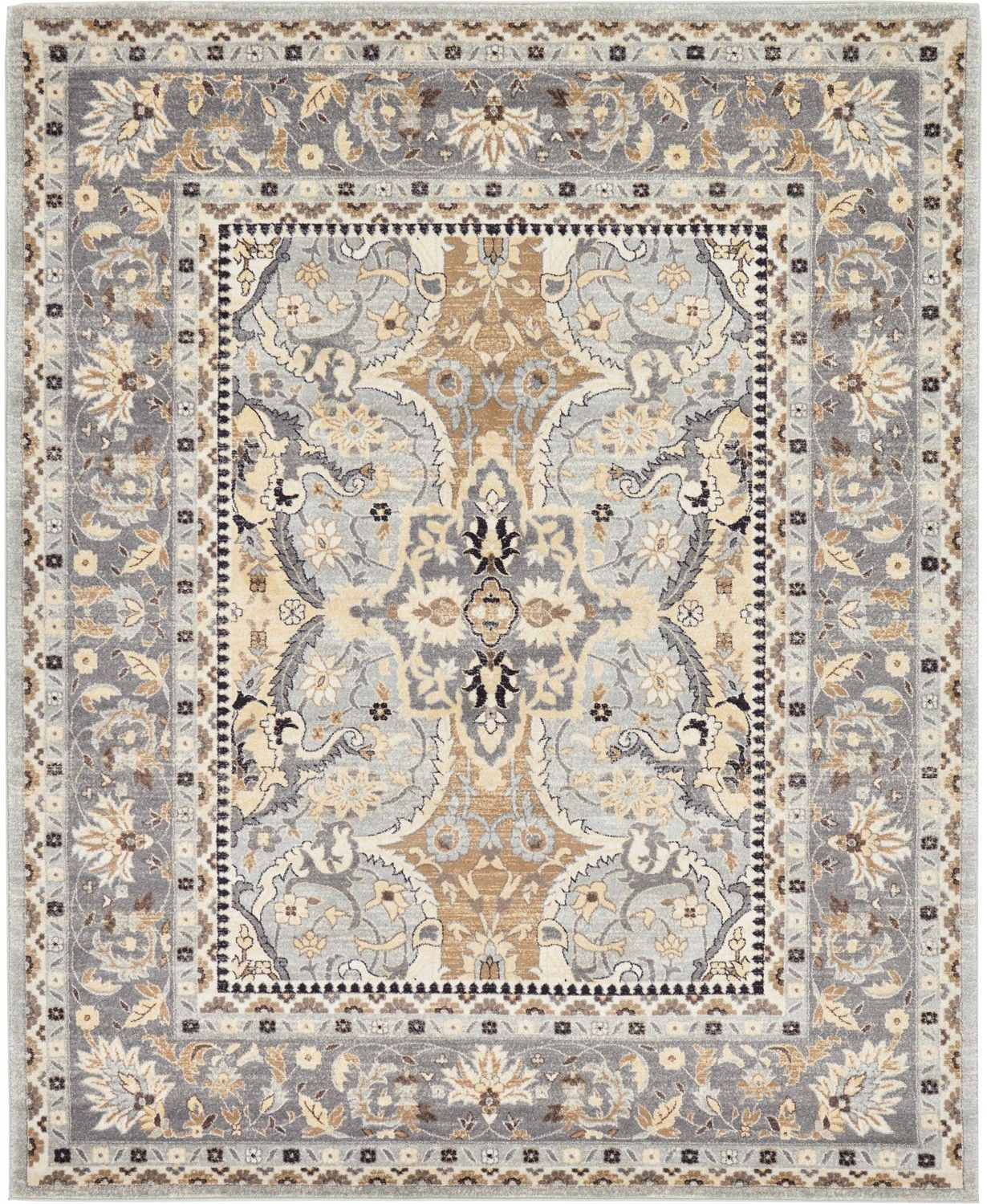 Bridgeport Home Wisdom Wis2 Silver 8 X 10 Area Rug Reviews