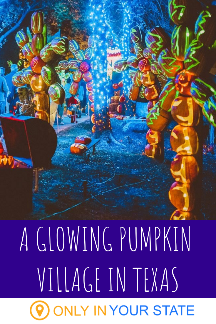 Walk Through A Village Of Over 3,000 Glowing Pumpkins At