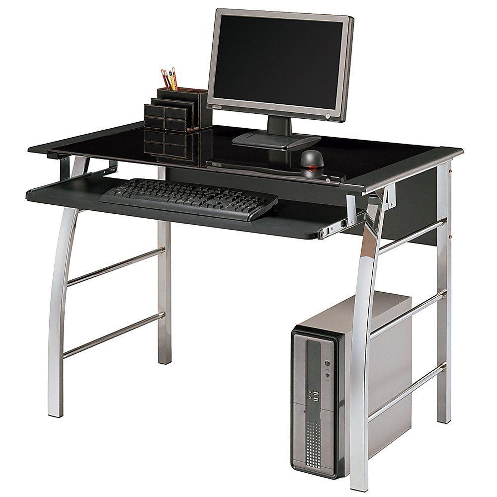 d and sauder conrad computer desk office black depot pin w by h hutch x estate