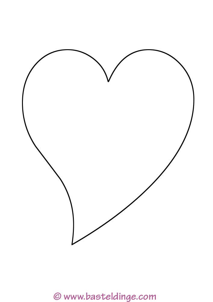 Vorlage Herzen Schablonen Vorlagen Herzschablone 2