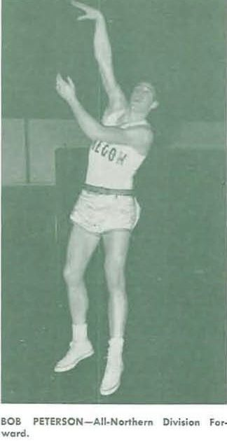 Oregon basketball player Bob Peterson 1950. From the 1951 Oregana (University of Oregon yearbook). www.CampusAttic.com